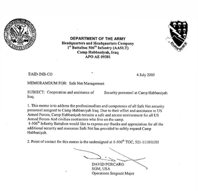 letter of recommendation for security company safenet group commendations